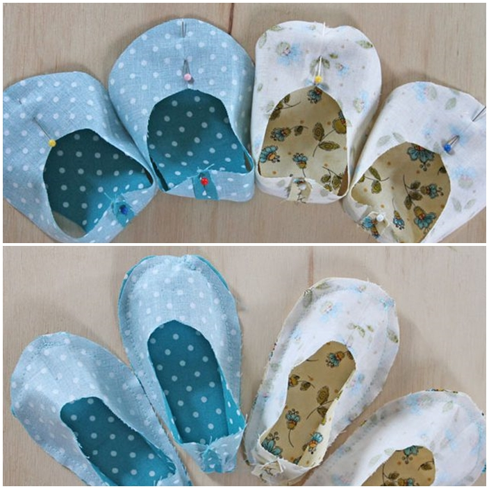 DIY chaussures bebe couture haut bas