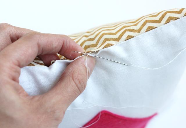 DIY oreiller secret coeur derniere couture