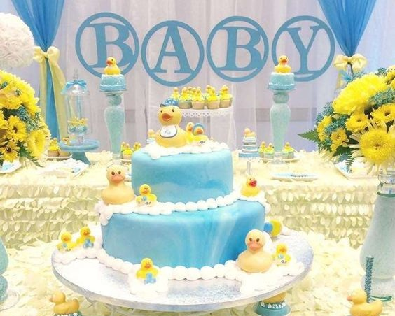 baby shower-canards-neuf mois