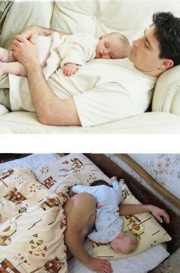 ces parents ont tente de reproduire des cliches avec leur bebe et se sont bien rate 20