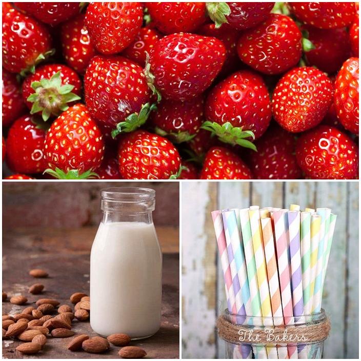 visuels DIY lait a la fraise ingredients
