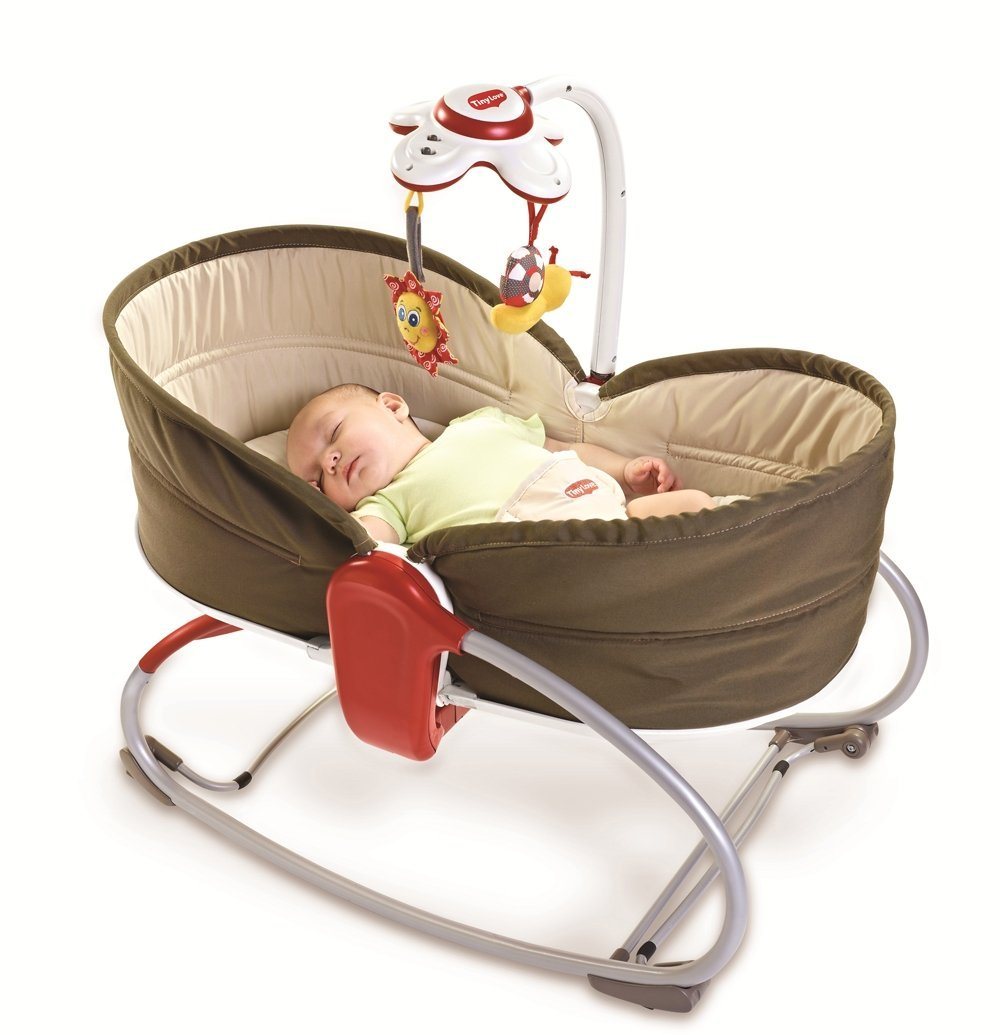 Tiny Love Transat Balancelle Rocker Napper 3 en 1 Marron
