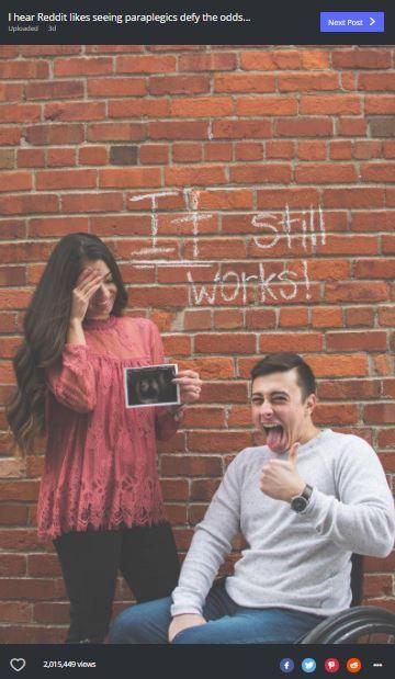annonce de grossesse paraplegique