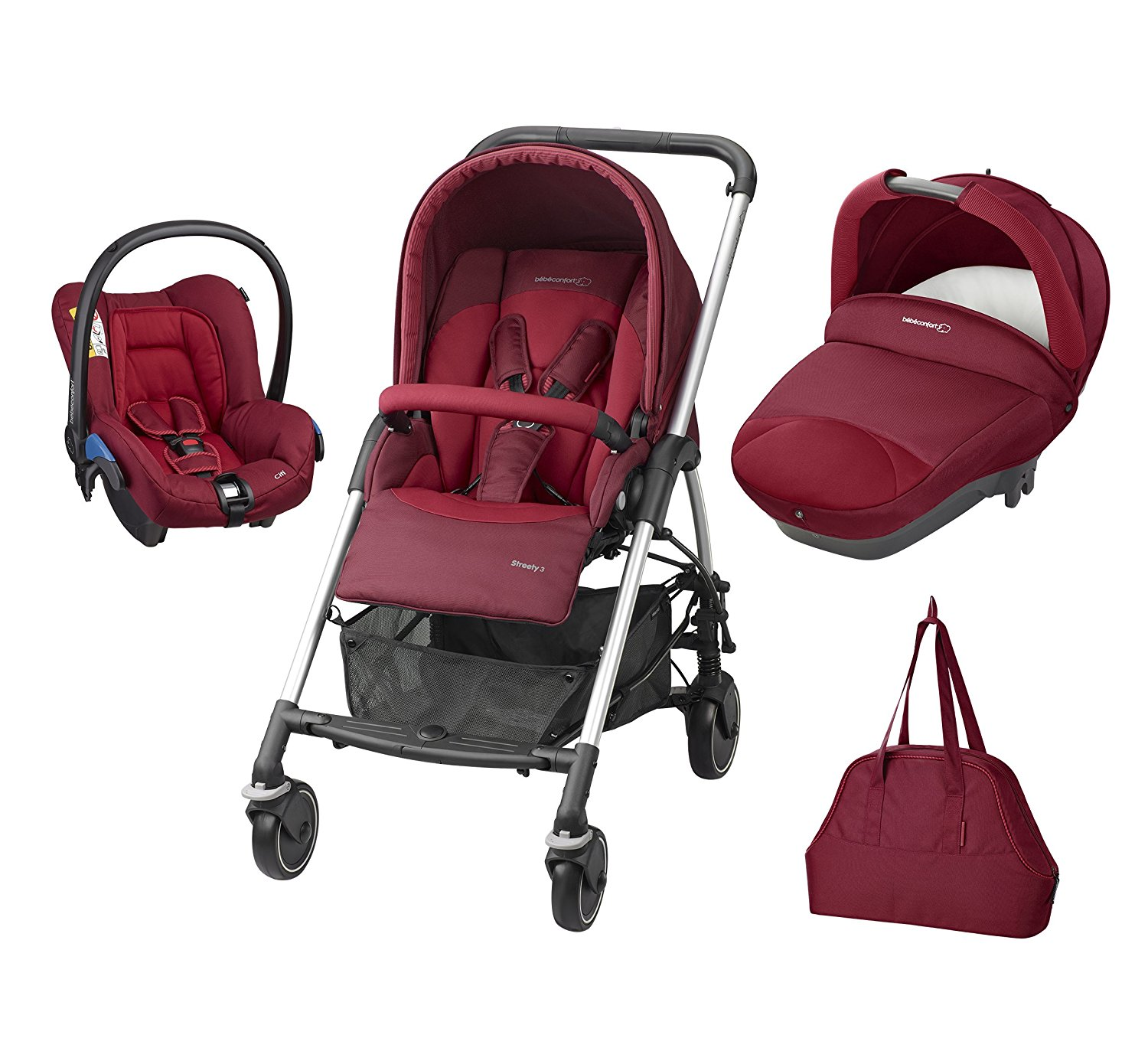 bebe Confort Poussette Combinee Trio Streety Next - Robin Red - Collection 2016