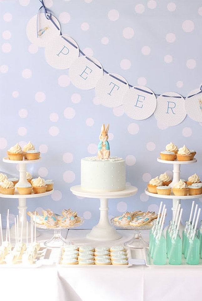 baby shower printanière-cake