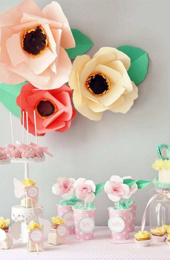 baby shower printanière-fleurs
