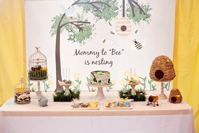 baby shower printanière-buffet-bis