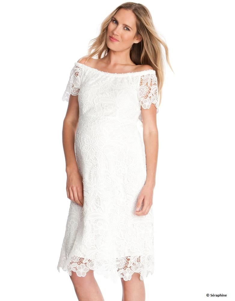 10 robes de grossesse pour adopter le total look blanc au printemps. Black Bedroom Furniture Sets. Home Design Ideas