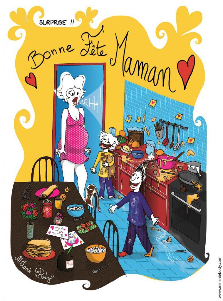 bonne fête mum dessin de Mélanie Body