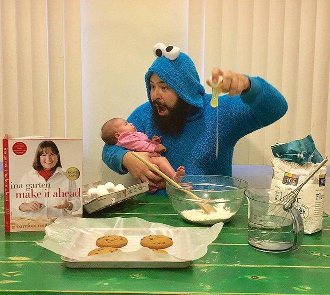 Sholom et zoé font des cookies