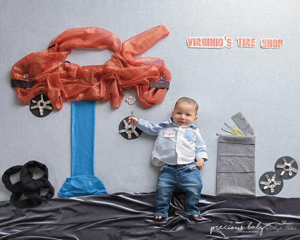 Photoshoot nouveau-né dinosaure 13