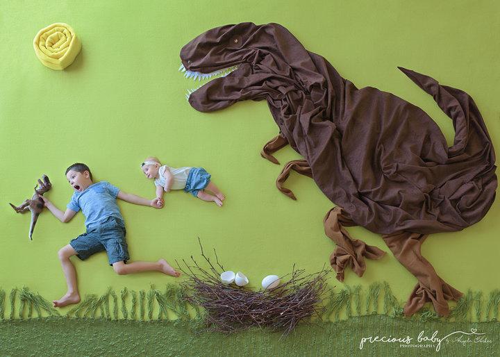 Photoshoot nouveau-né dinosaure 2