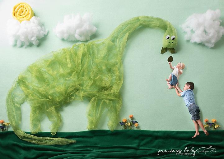 Photoshoot nouveau-né dinosaure 4