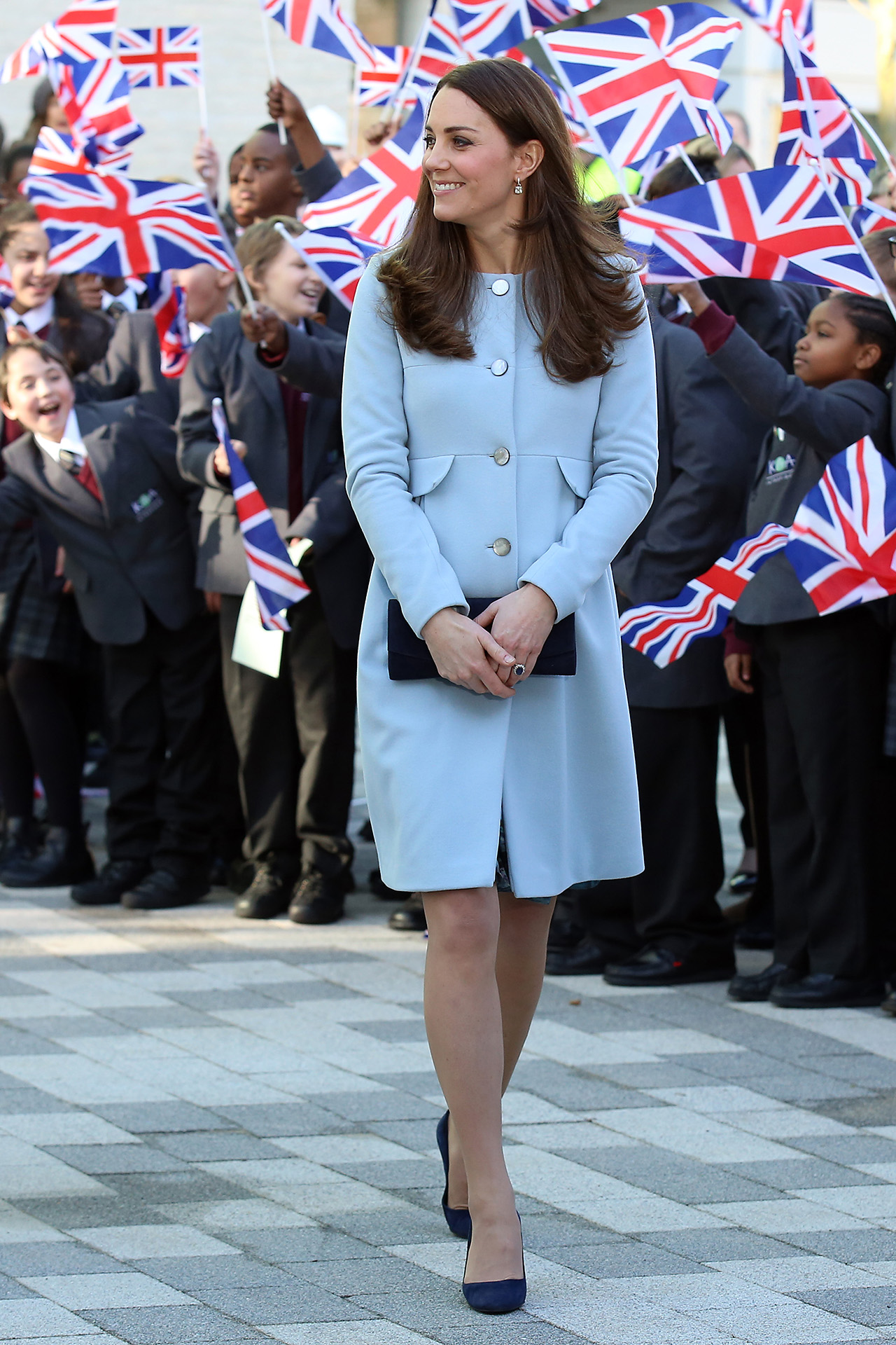 The Duchess Of Cambridge Opens The Kensington Leisure Centre And Aldridge Academy