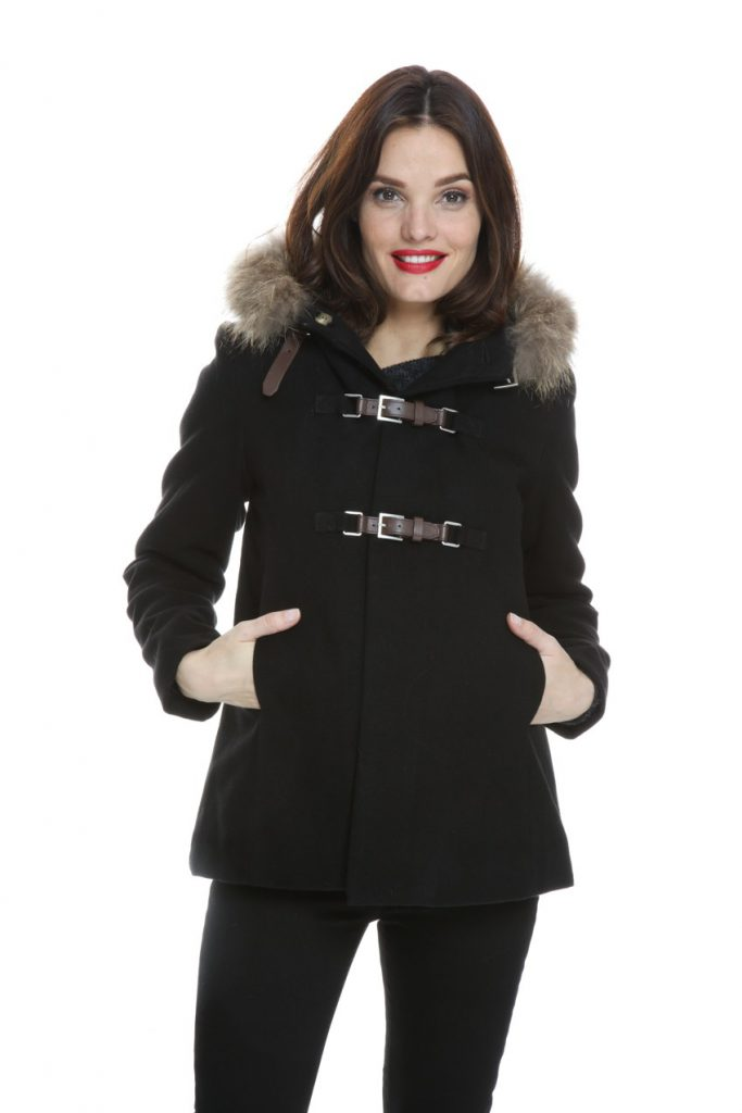 633524e48449 Manteau de grossesse noir à capuche – Vestes   Manteaux grossesse, Best  Mountain chez Mamma Fashion, 149.90 euros.