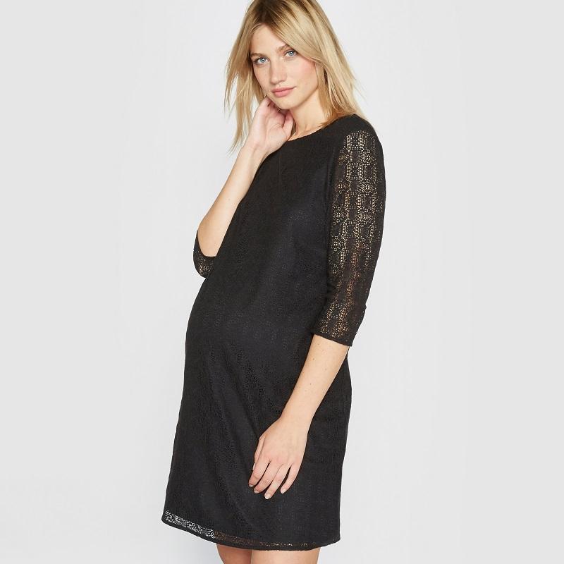 10 idées de petites robes noires de grossesse parfaites ...