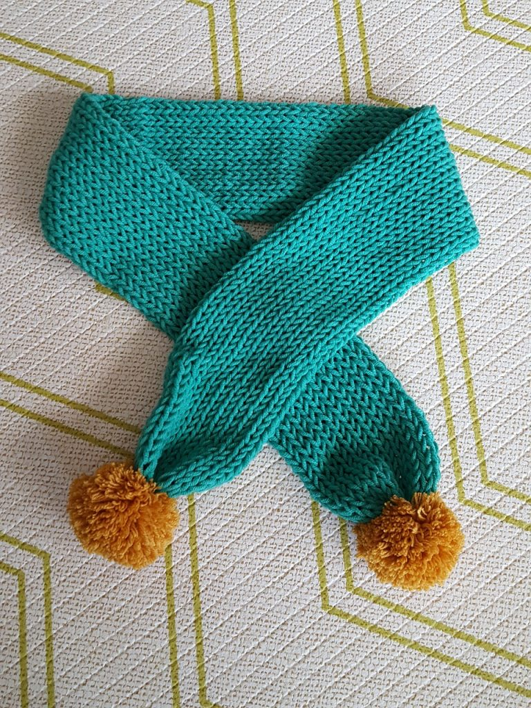 Diy Scarf Pom Knitting Hand-made Minteusaek