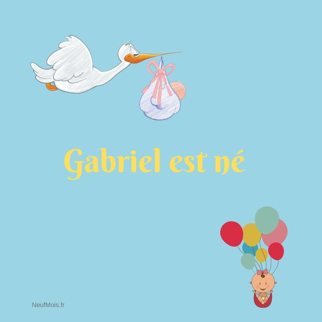 prénom gabriel-neuf mois-bébé