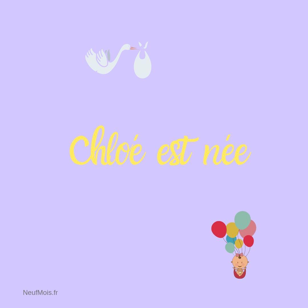 prénom chloé-née-neuf mois