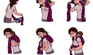 On est nombreuses à avoir connu cette même galère avec notre écharpe de portage pas vrai ?