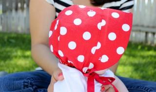 DIY : un bonnet de petit chaperon rouge pour bébé
