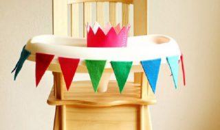 DIY : une chaise haute festive pour le premier anniversaire de bébé