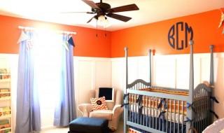 6 inspirations pour égayer la chambre de bébé en orange