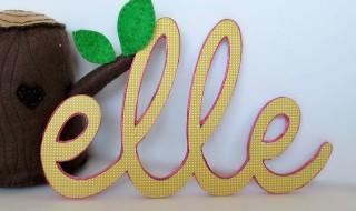 DIY : transformer le prénom de bébé en décoration