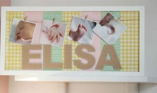 DIY: cadre souvenir pour la chambre de bébé