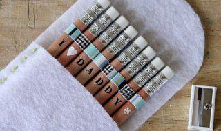 DIY : personnaliser les crayons de papa pour la fête des pères