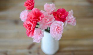 DIY : un bouquet de fleur tout en crépon pour Maman