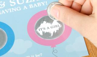 DIY : un jeu à gratter pour dévoiler le sexe de bébé