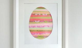 DIY : un cadre-oeuf coloré pour décorer la chambre de bébé