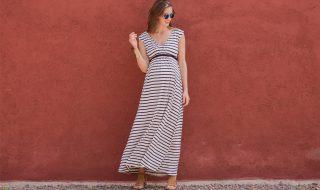 10 robes de grossesse qui jouent avec chic sur la longueur