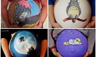 Elle transforme les ventres ronds en oeuvre d'art