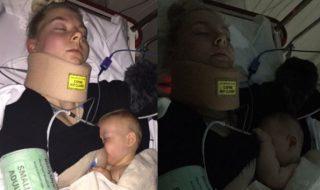 Après une chute dans les escaliers, cette maman préfère allaiter son bébé que prendre des antidouleurs