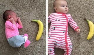 Cette maman compare la taille de sa fille à des objets et la prend en photo !