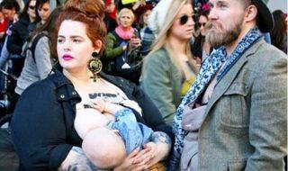 A l'occasion de la Marche des Femmes, quel droit cette maman a-t-elle souhaité faire valoir ?