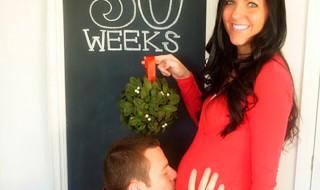 En voilà une annonce de grossesse très très Noël !