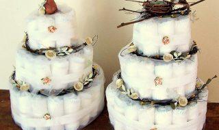 8 gâteaux de couches super fun pour décorer une baby shower