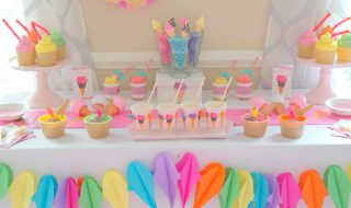 12 idées gourmandes pour organiser une baby shower «ice cream»