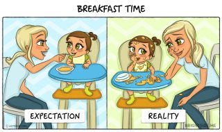 Ta vie de maman : quand tes attentes sont loin, fort loin de la réalité…