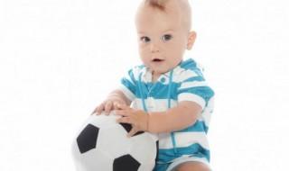 Bébé est prêt pour la Coupe du Monde de football