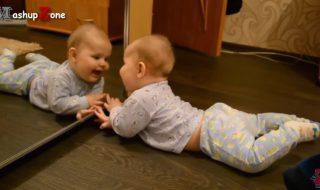 Ces bébés qui se voient pour la première fois dans un miroir sont hilarants !