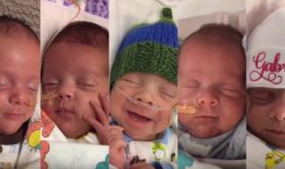 Voulant un troisième enfant, ce couple a finalement accueilli cinq bébés !