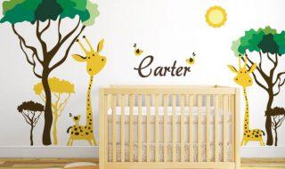 7 chambres de bébé où s'incrustent de joyeux animaux sauvages