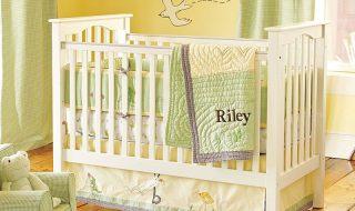 7 idées de chambres de bébé joliment teintées de vert