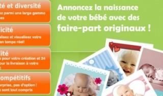 Code promo faire part de naissance