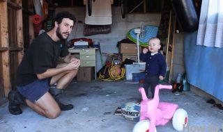 Apprentissage du vélo avec loulou : c'est l'éclate pour ce papa !