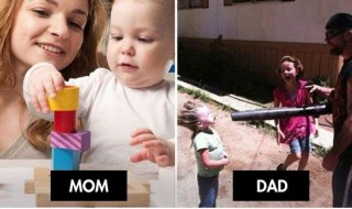 Passer du temps avec maman ou papa : ça n'a rien à voir !